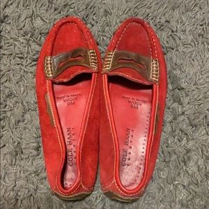cole haan red loafers